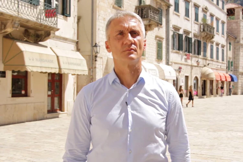 Dejan Vukšić, vršilac dužnosti direktora Agencije za nacionalnu bezbednost (ANB) (Foto: Snimak ekrana/Jutjub/Za budućnost Kotora)