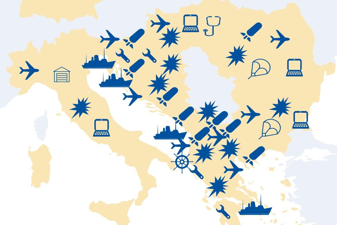 """Mapa izvođenja NATO vežbe """"Branilac Evrope 21"""" na Balkanu (Foto: Snimak ekrana)"""