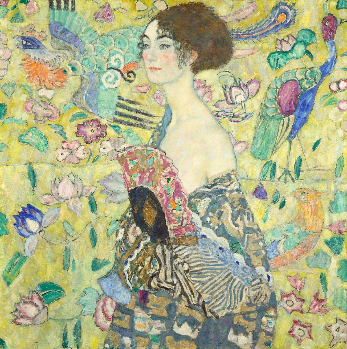 "Gustav Klimt, ""Dama s lepezom"" (Foto: Belvedere, Wien/Markus Guschelbauer)"