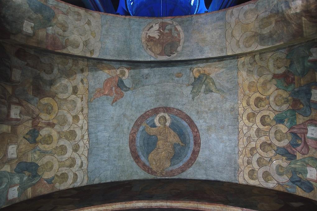 Freska Isusa Hrista Andreja Rubljova unutar crkve u gradu Vladimir (Foto: Wikimedia/Flickr/Andrew Gould, CC BY 2.0)