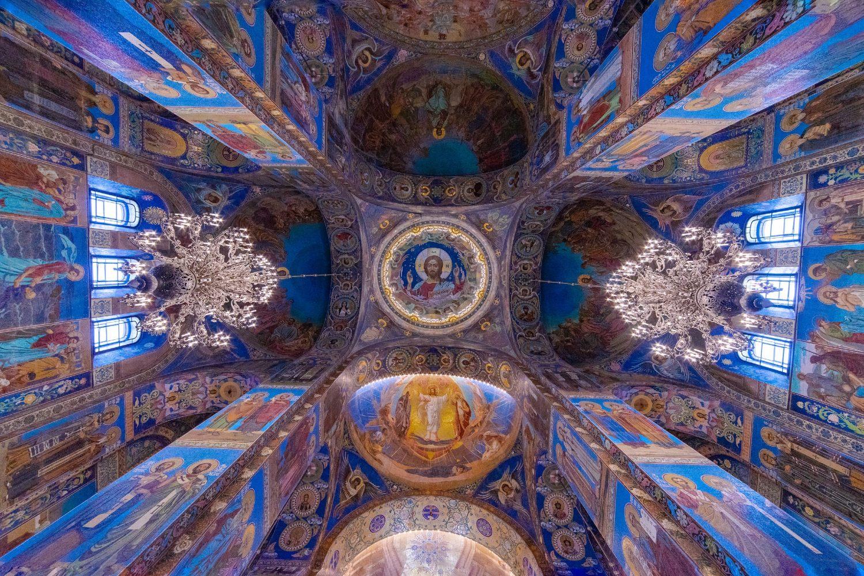 Unutrašnjost Crkve Spasa na krvi u Sankt Peterburgu (Foto: