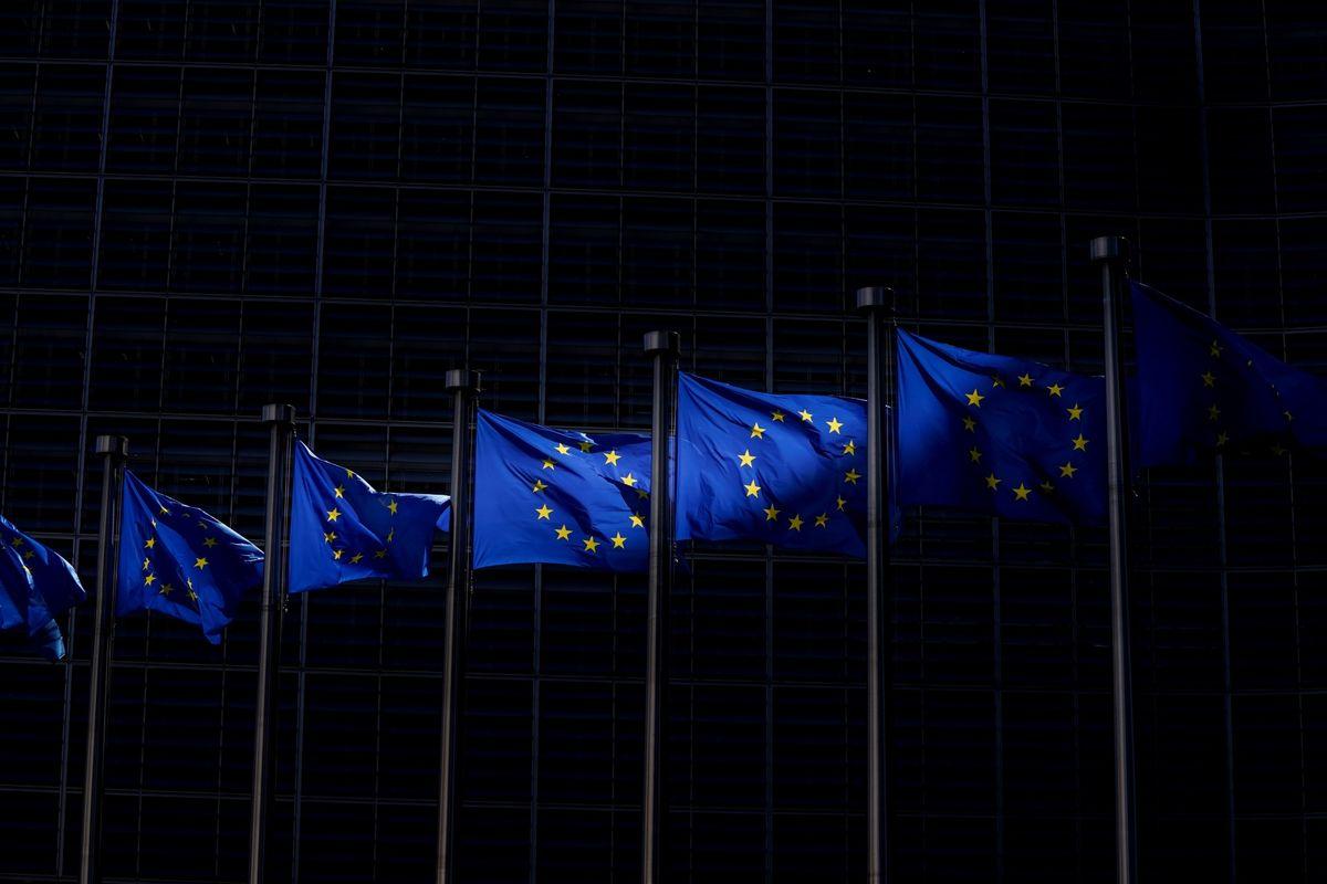 Zastave Evropske unije u Briselu (Foto: Kenzo Triboullard/AFP via Getty Images)