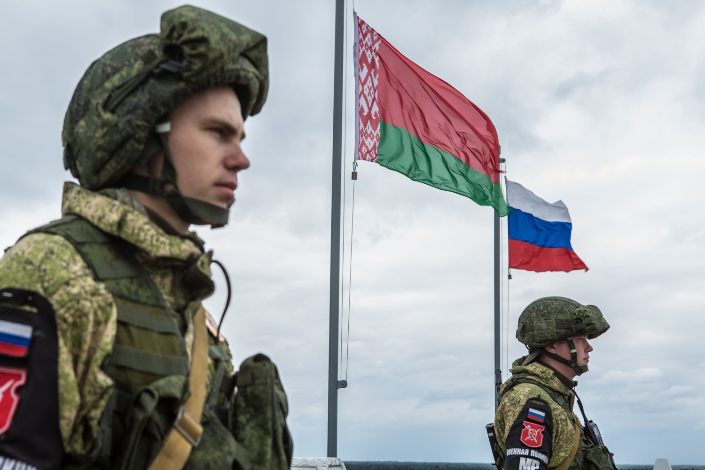 Ruska vojna policija tokom vojnih vežbi Zapad 2017, Asipoviči (Belorusija), 18. septembar 2017. (Foto: Brendan Hoffman/AFP via Getty Images)